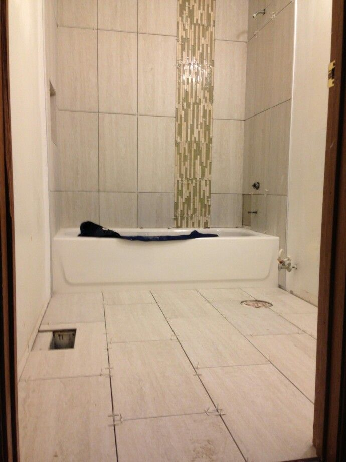 12x24 Vertical Tile Bathroom Bathroom Design Small Shower Tile Bathroom Design