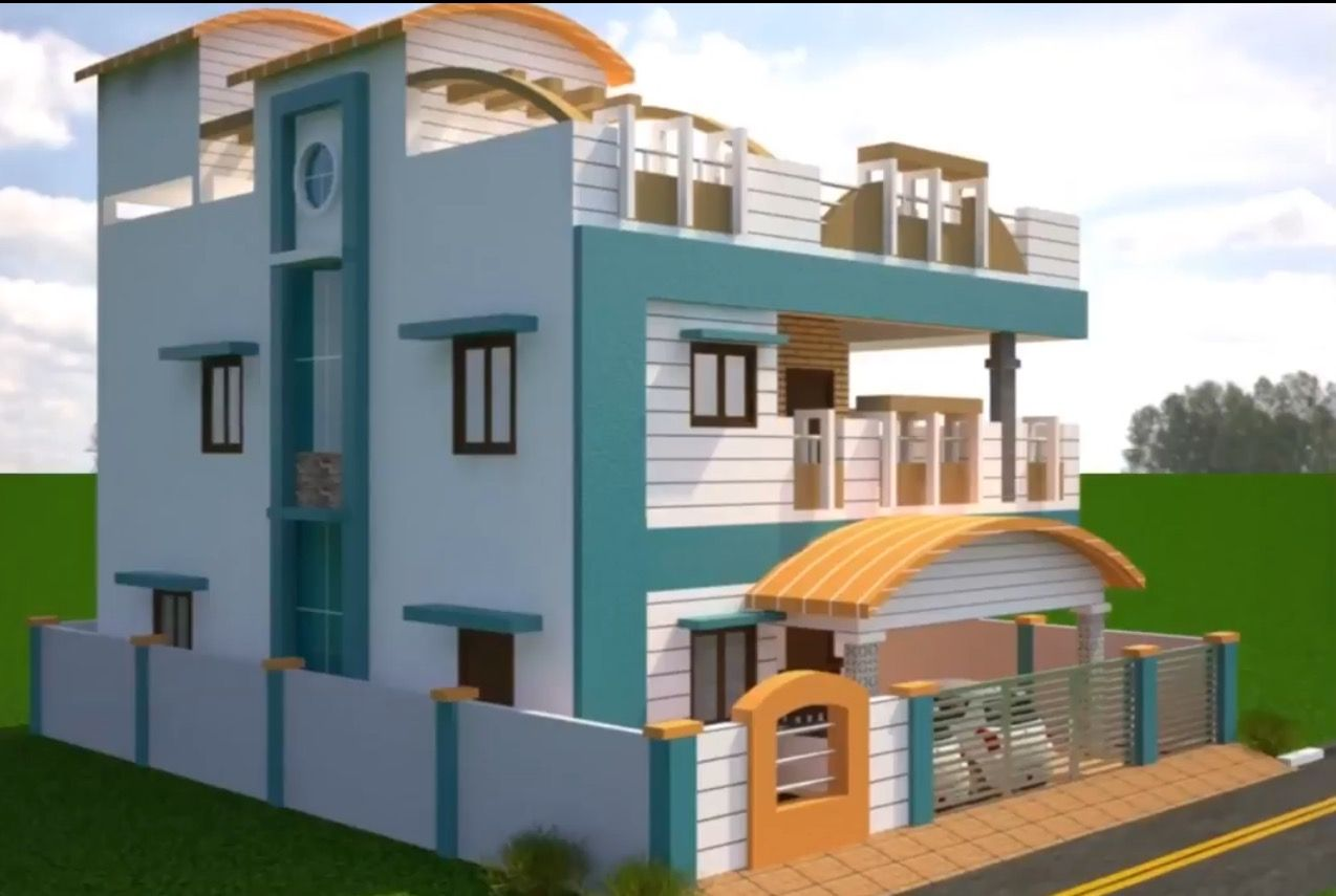 2floorelevation doublefloor elevation in 2020 House