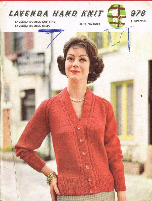Lavenda 978 cardigan ladies vintage knitting pattern Listing in the ...