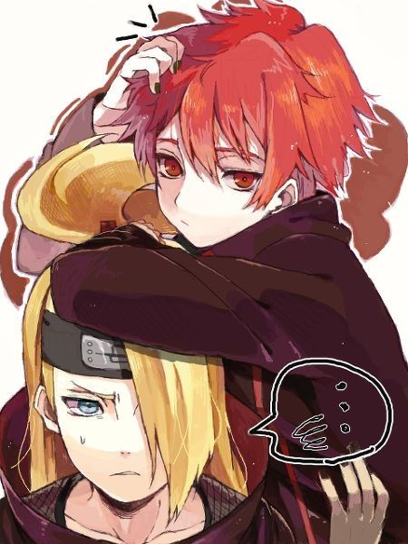 Sasori Deidara The Two Artists Of Akatsuki Sasori And Deidara Naruto Anime
