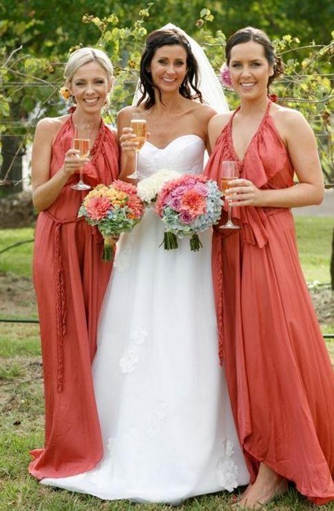 Rust Bridesmaid Dresses