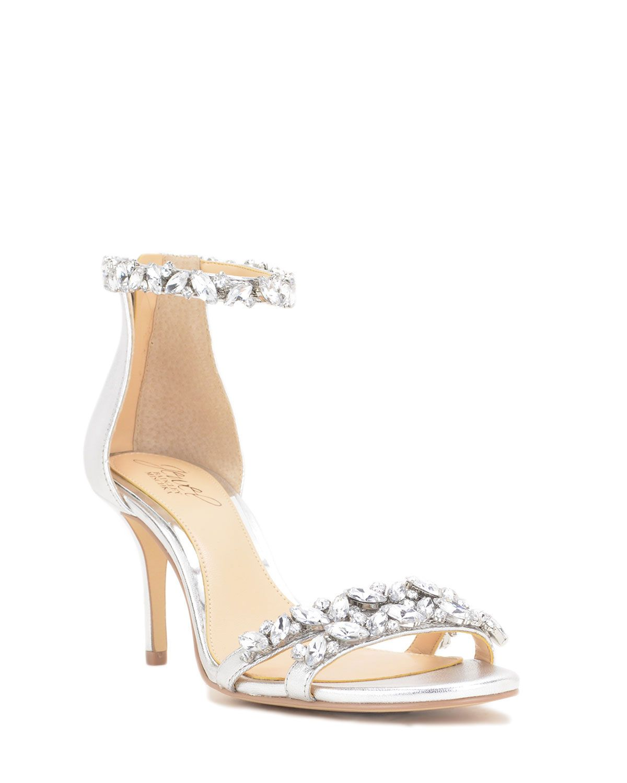 10b1aa0bfa185 Jewel Badgley Mischka Caroline Embellished Strap Evening Shoe