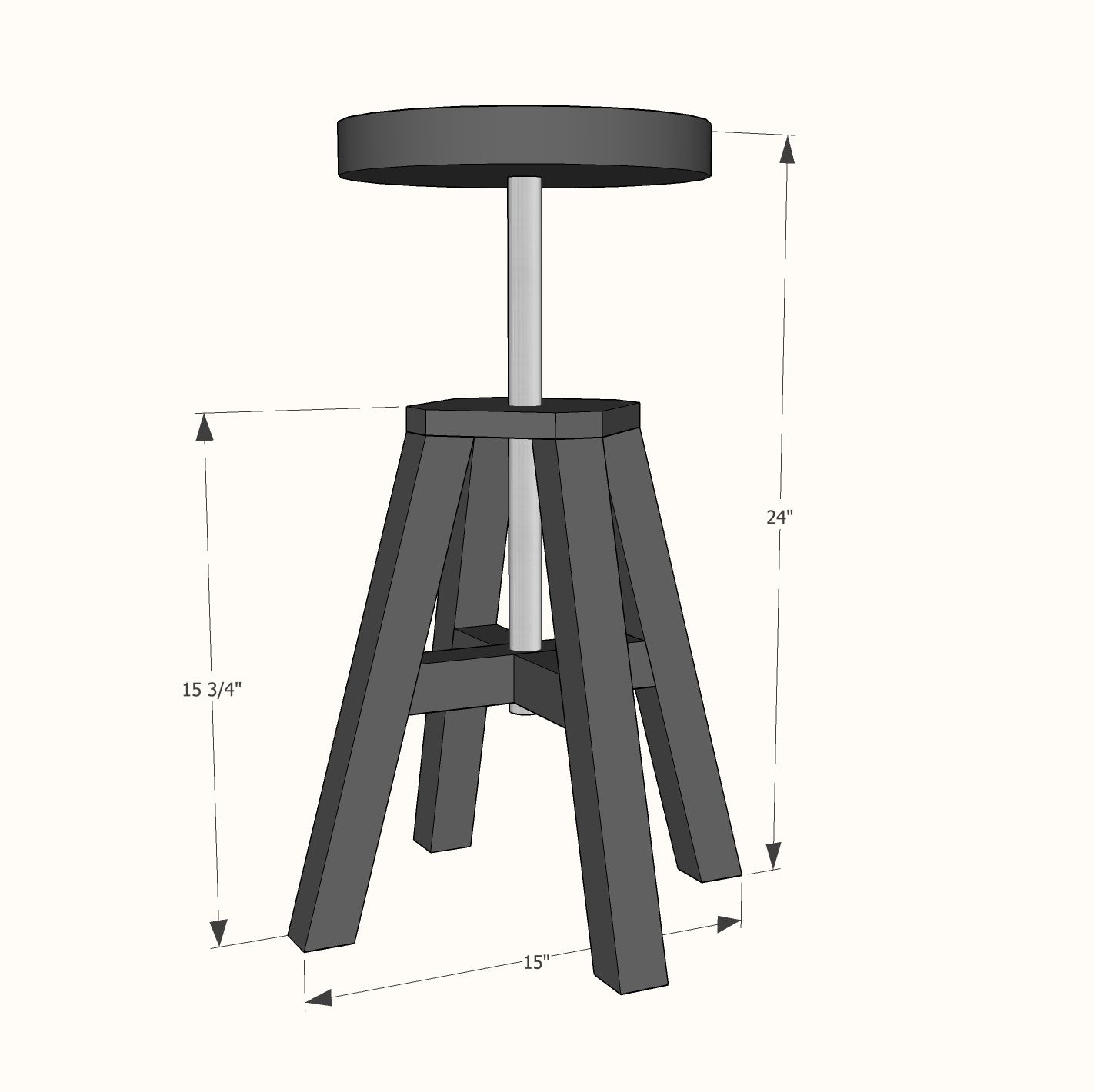 Brilliant Ana White Build A Adjustable Height Wood And Metal Stool Beatyapartments Chair Design Images Beatyapartmentscom
