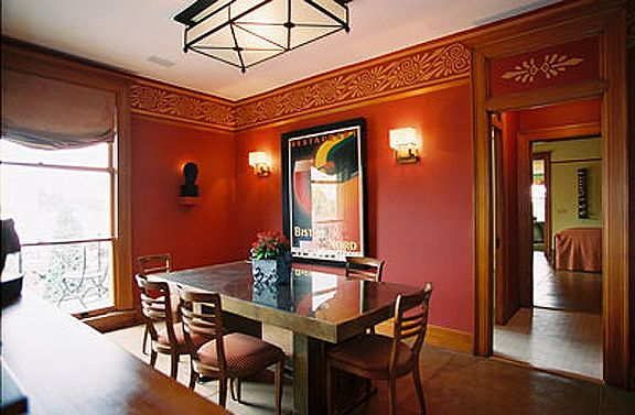 one red wall for art deco dining room - google search | mark's art