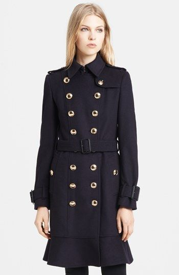 460893a979c7d  Burberry London Belted Wool   Cashmere Trench Coat available at   Nordstrom. The dream jacket. Finally bought it
