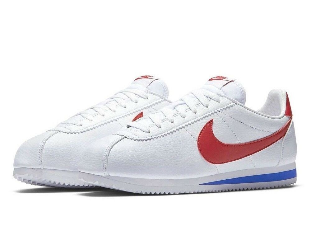 Nike Classic Cortez Leather Shoes Mens 12 White Varsity Red Royal 749571 154