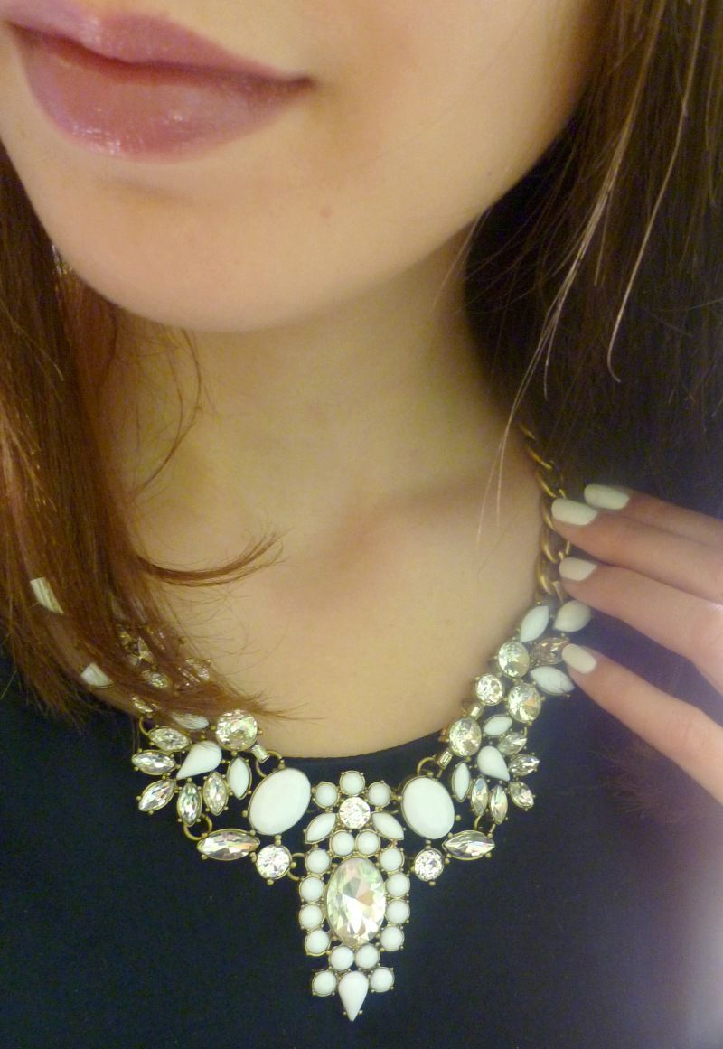 Snow White Statement Necklace #happinessbtq
