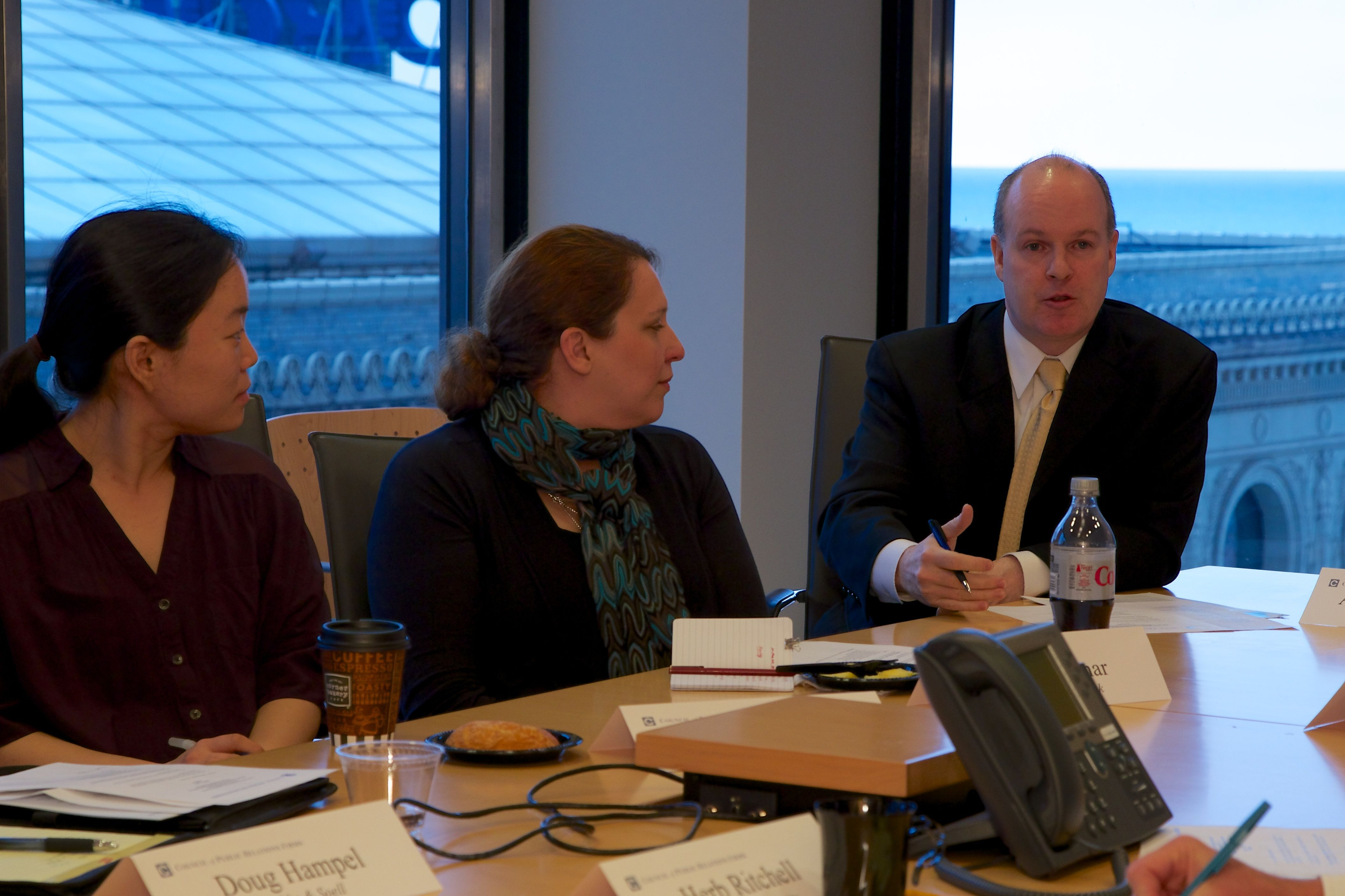 The Council of Public Relations Firms hosted a roundtable discussion featuring local PR firm leaders and college professors to discuss the future of PR talent.