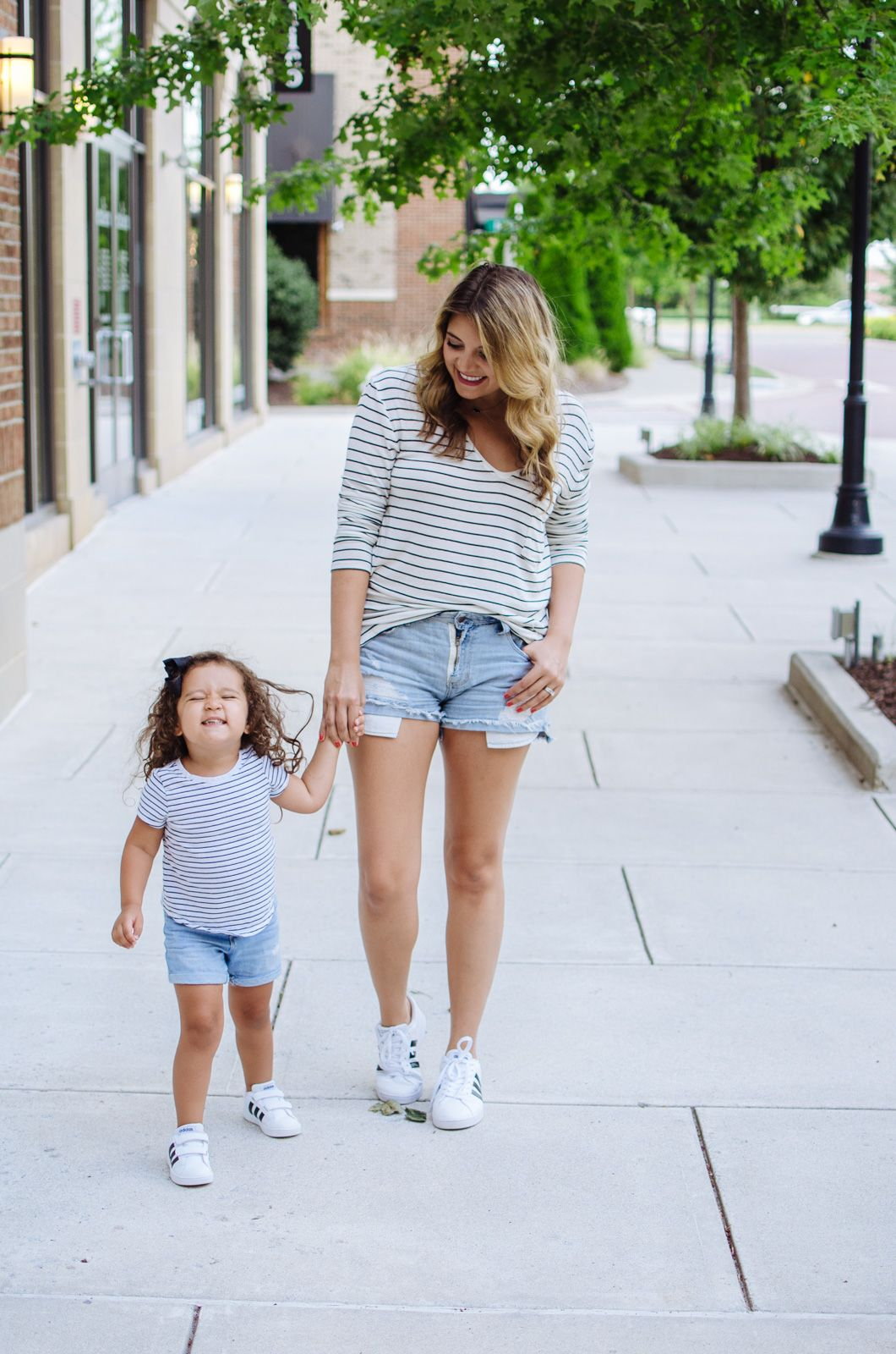 8f8f4fe274 Mommy Daughter Matching Outfits  Stripes and Sneakers