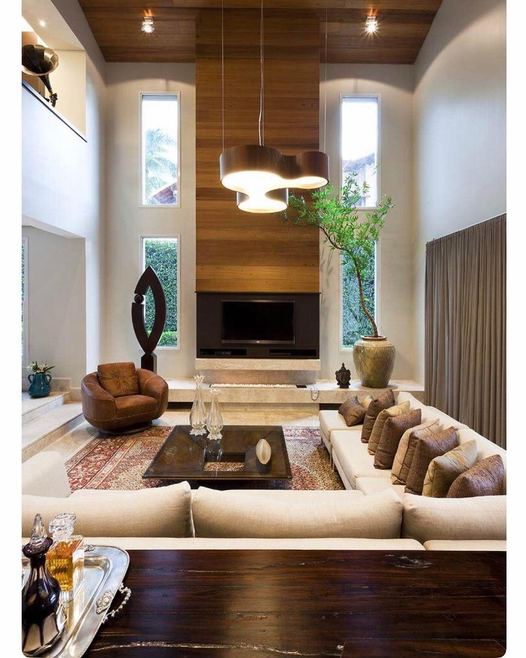 Sala Pe Direito Alto Construindo Minha Casa Clean Iluminao De Salas  -> Parede De Pe Direito Duplo Sala