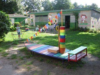 как украсить детскую площадку в детском саду