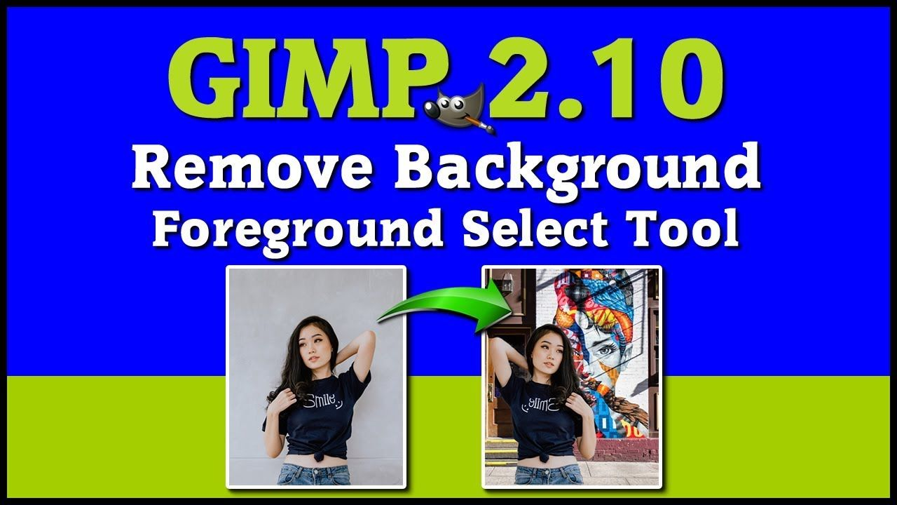 How to remove background from image using GIMP 2.10