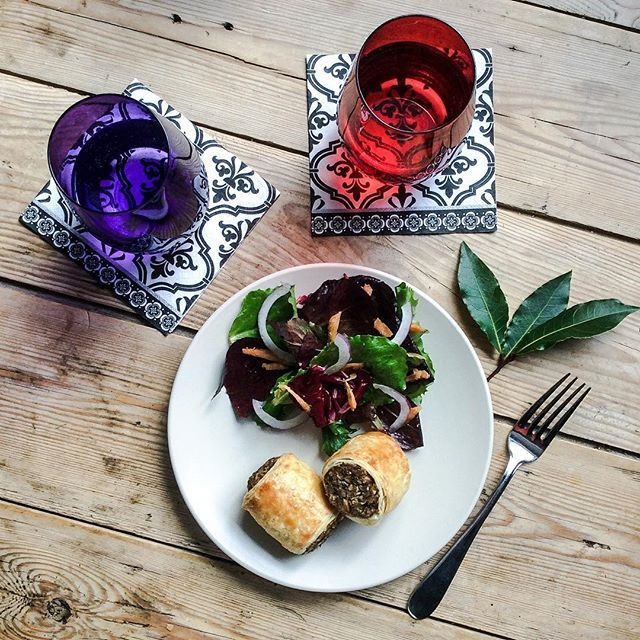 Vegetarian Rolls with Pigeon and Truffles from Voyager. (I know it doesn't make a lot of sense...but trust me.) Recipe at outlanderkitchen.com #outlander #voyager #outlanderkitchencookbook #valentines #vegetarian #sausagerolls