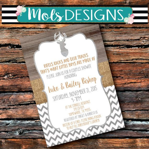 deer baby shower invitation. rustic deer antler baby shower, Baby shower invitations