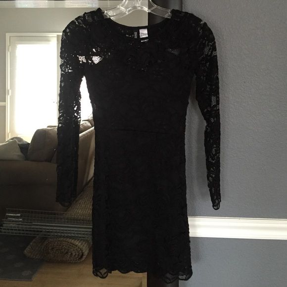 Lacy Little Black Dress Mini dress, worn once, perfect condition, fully lined. Fits like an XXS, I labeled it so on the listing. However the tag reads 2, but that is H&M sizing which runs very small. H&M Dresses