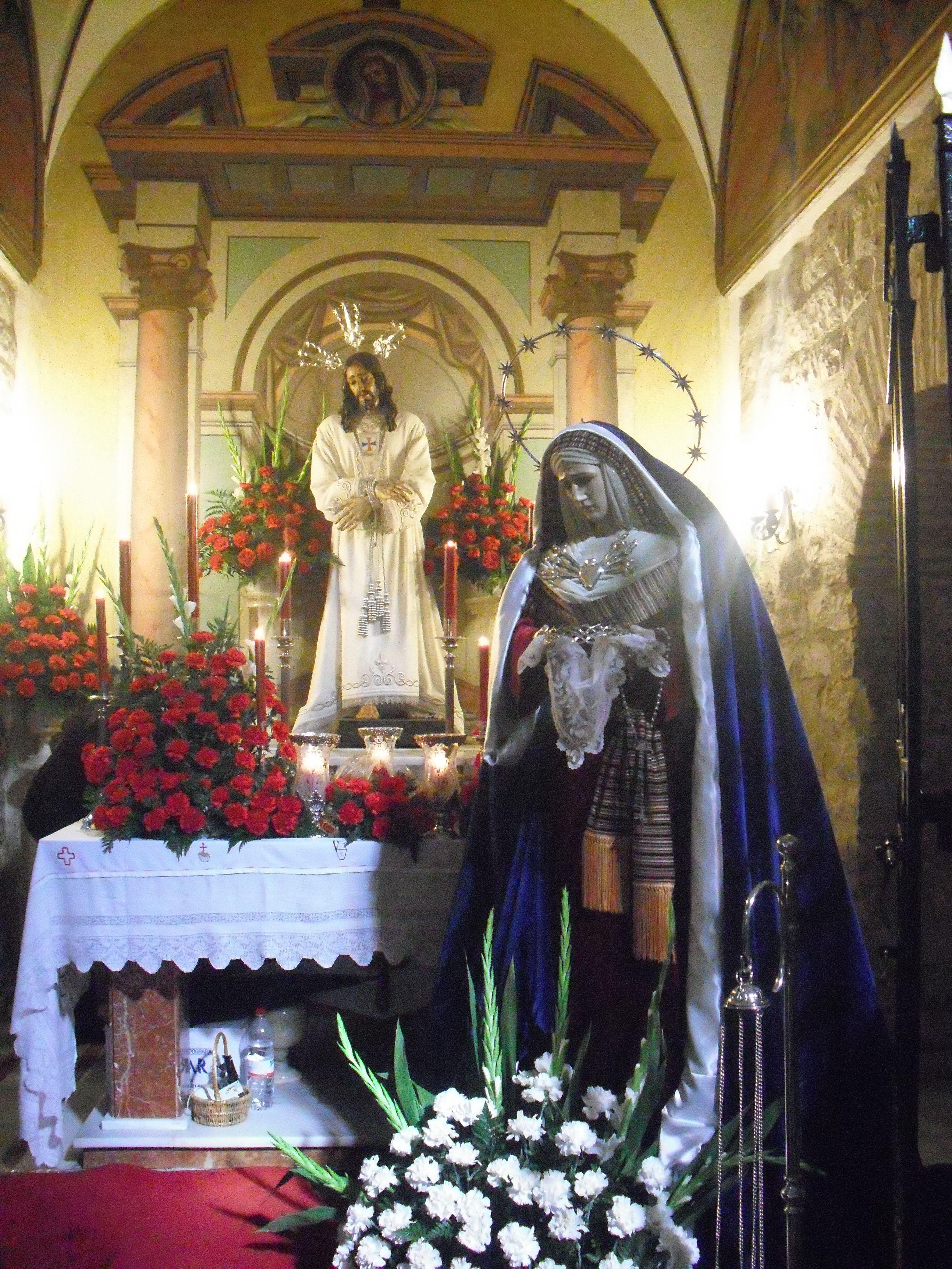 altar de la cofradía de jesus cautivo