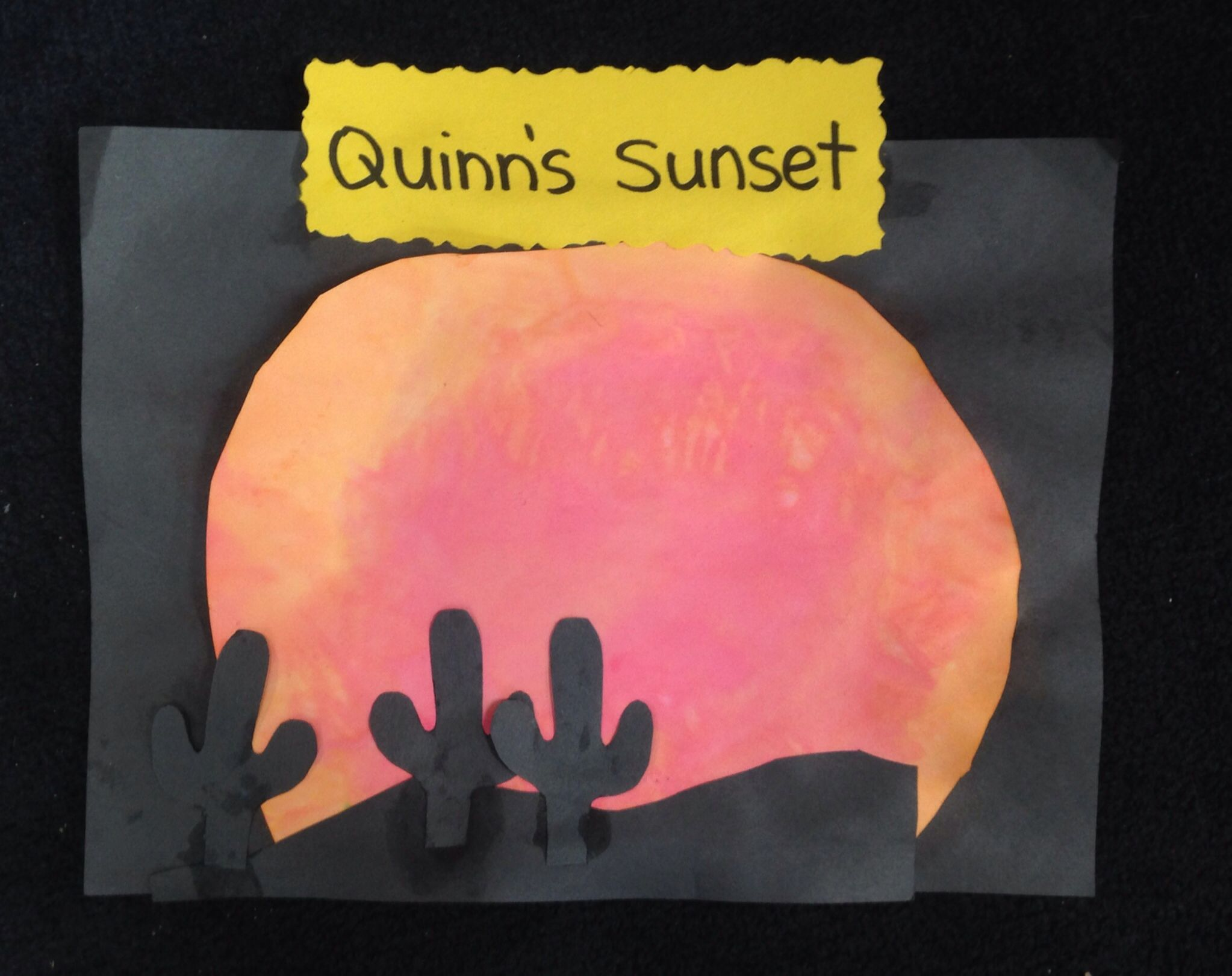 Sunset Of The Wild West Pre K Children Cut Out A Circle