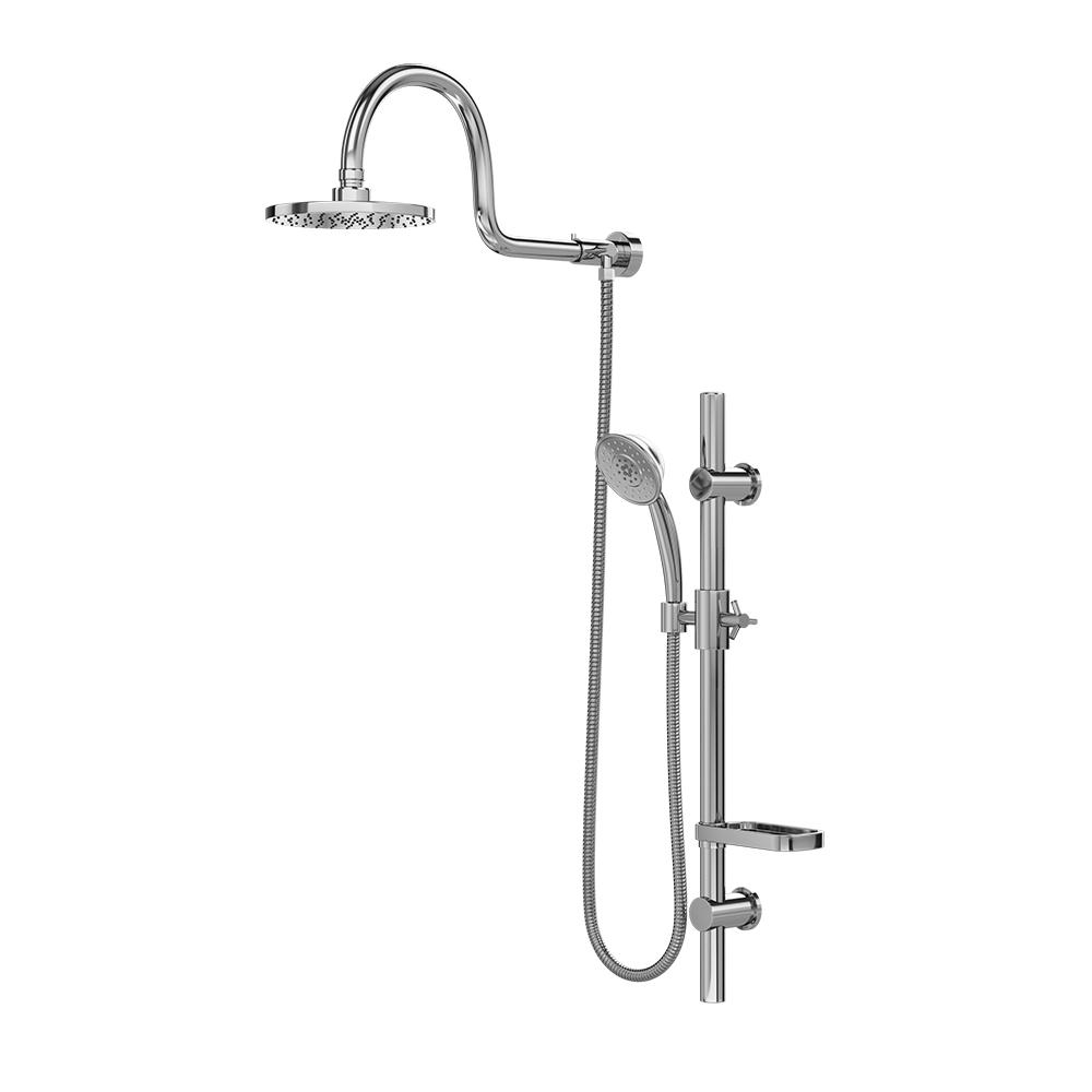 Pulse Showerspas Aqua 3 Spray Handshower And Showerhead Combo Kit With Wall Bar Shower Kit In Chrome Finish Grey Rain Shower System Shower Systems Shower Heads