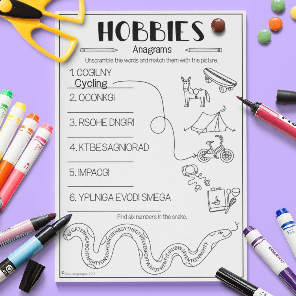 Hobbies Anagrams
