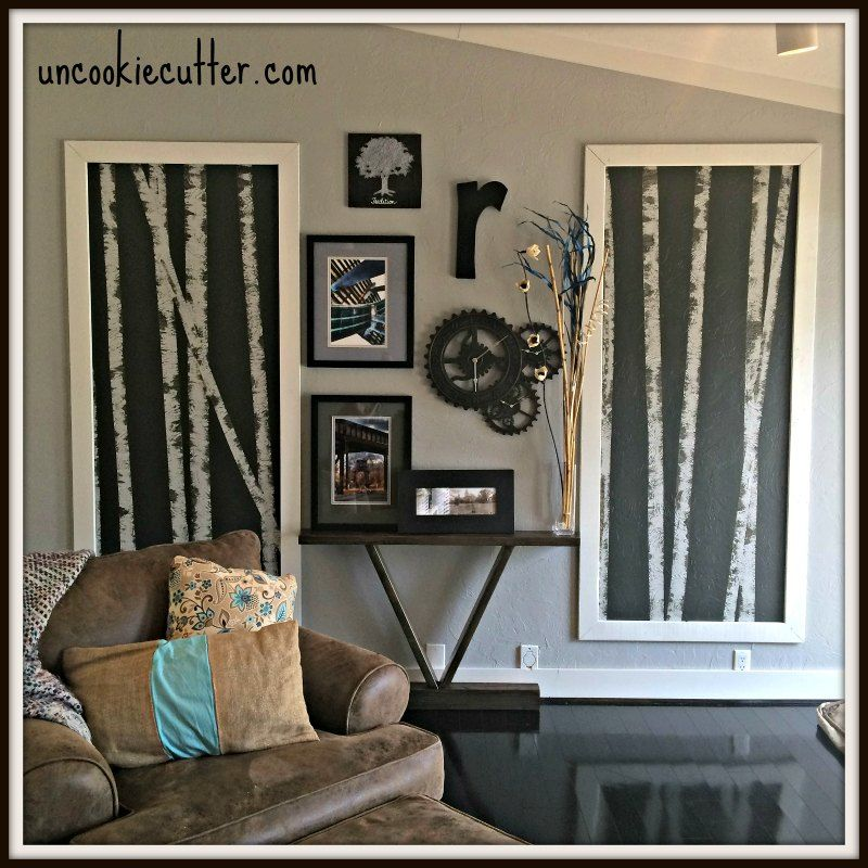 Birch Tree Paintings Tutorial Craft Rooms How To Wall Decor Rhpinterest: Paintings For Living Room With Birch Trees At Home Improvement Advice