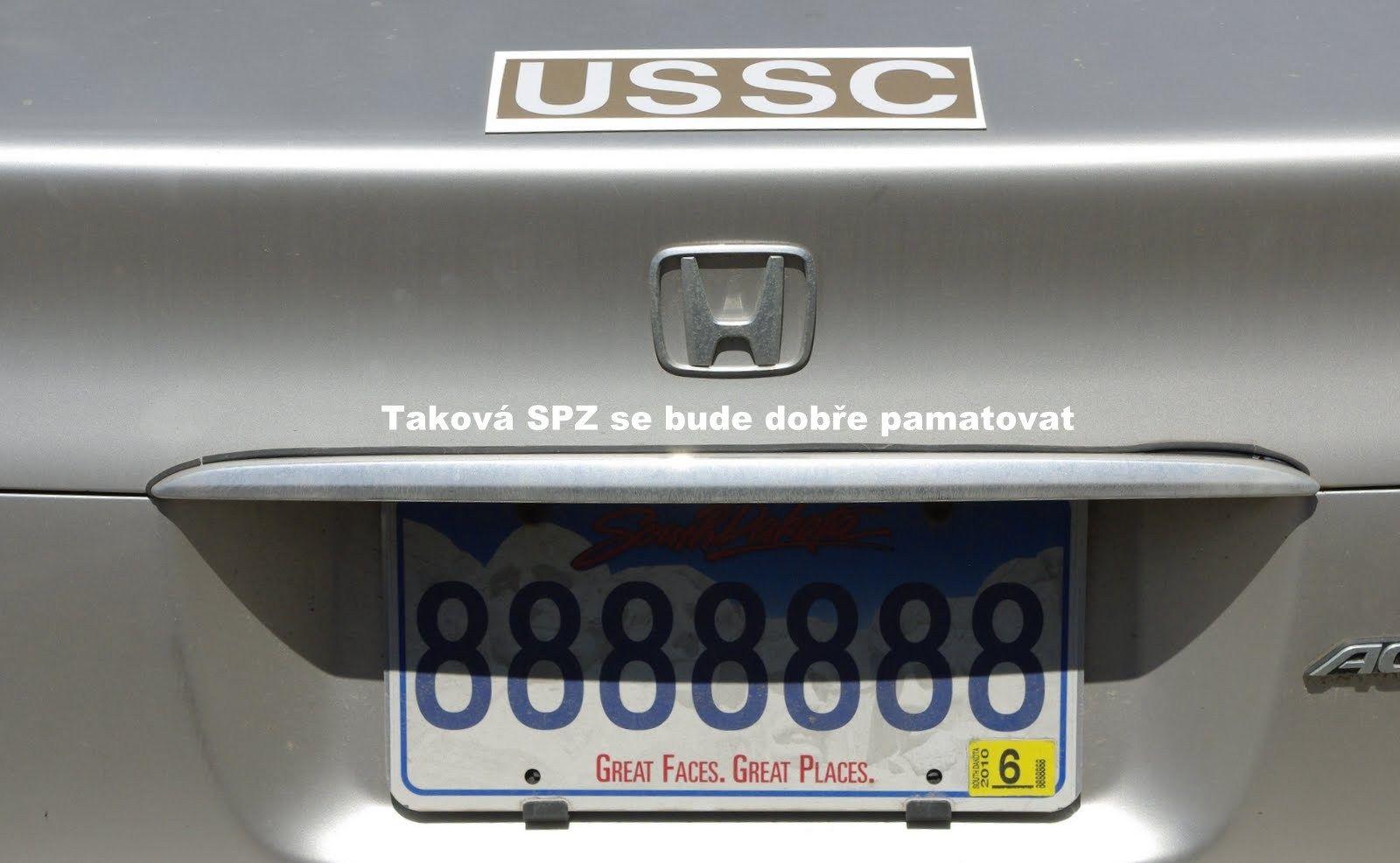 8888888 License Plate Car Door Car