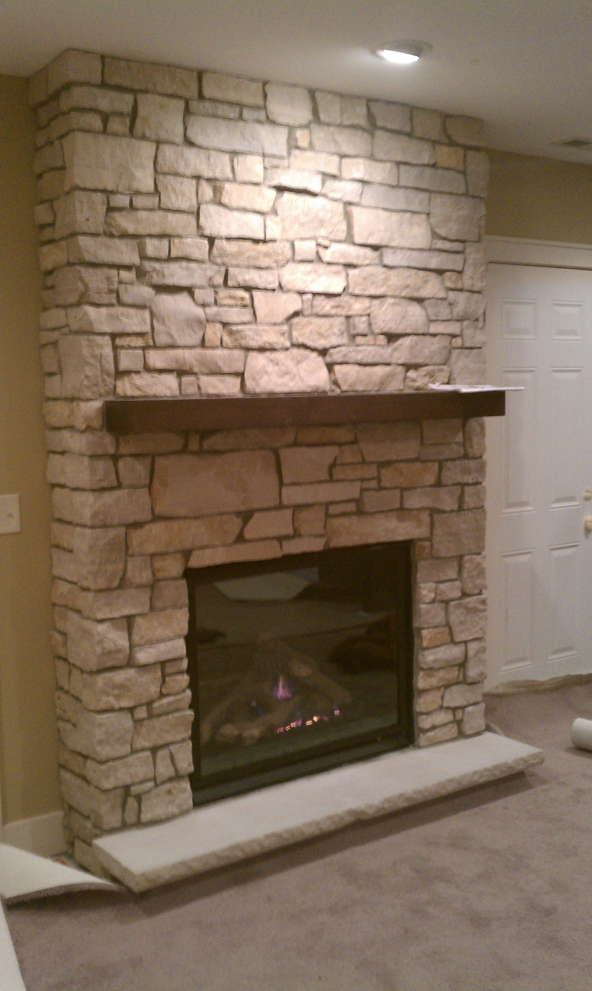 ideas surround fireplace home stone design faux