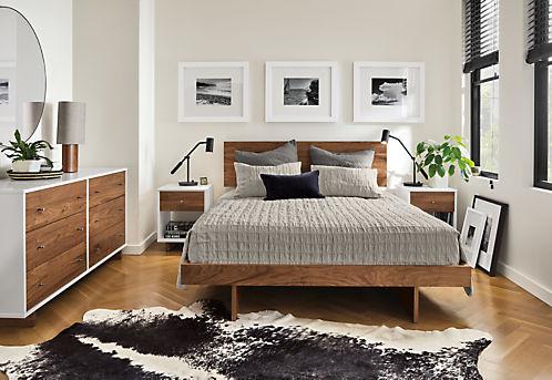 Moda Nightstands - Mid-Century & Modern Nightstands - Modern Bedroom Furniture - Room & Board