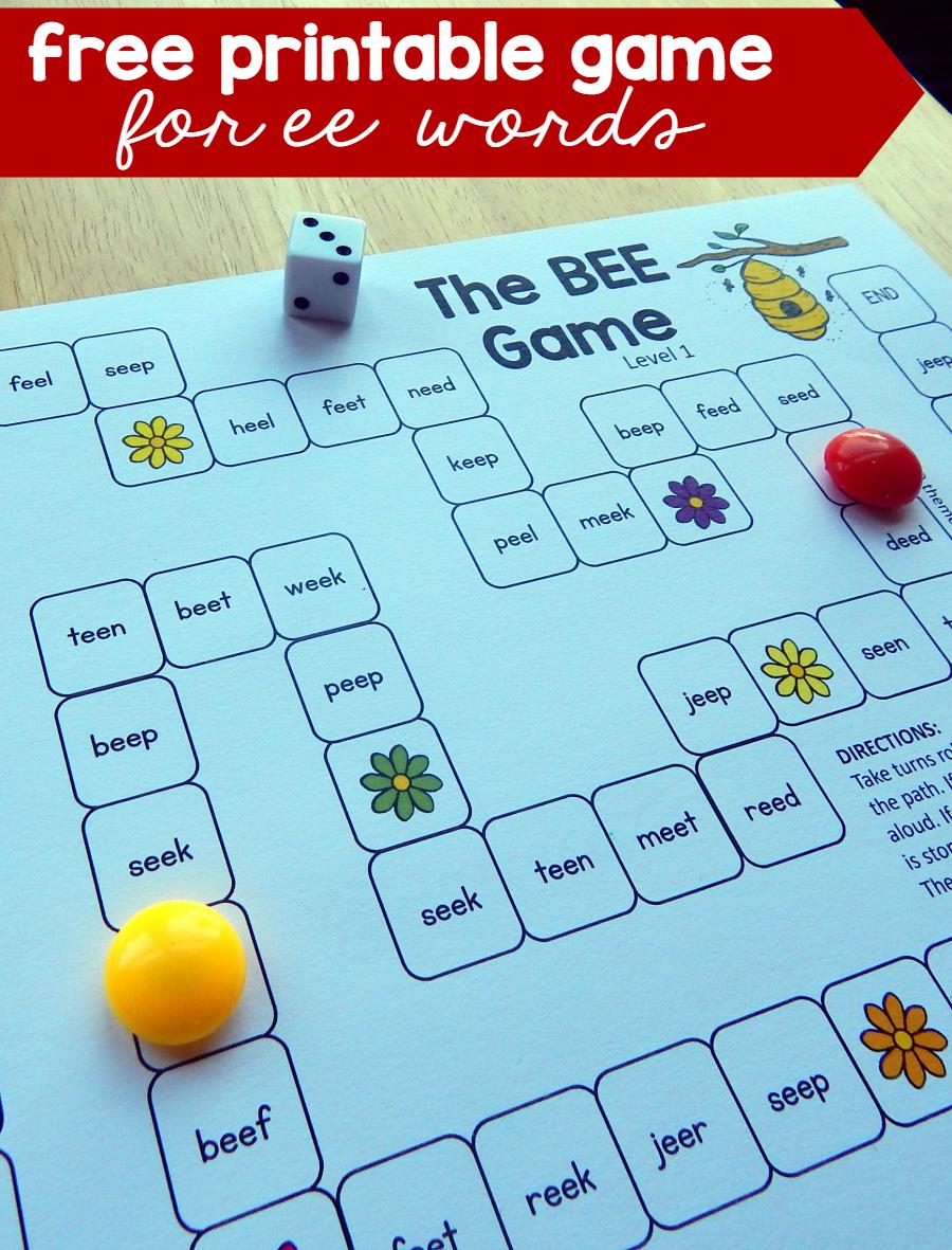 Ee Words Worksheets For Kindergarten