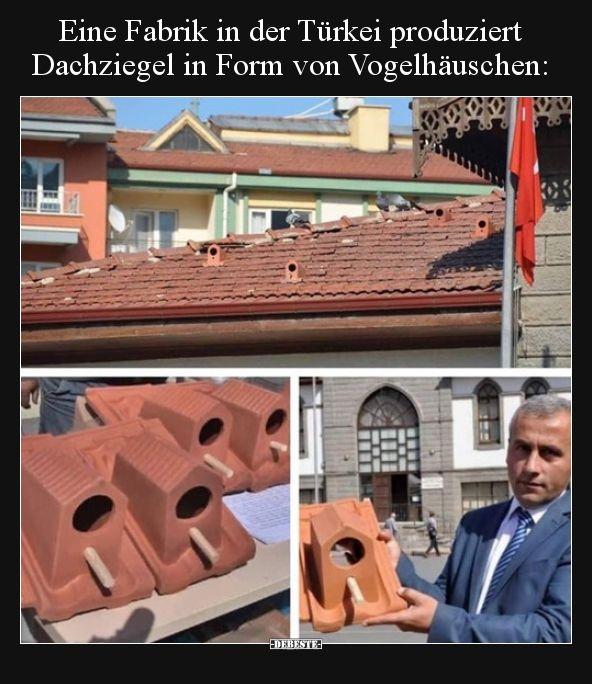 Eine Fabrik in der Türkei produziert Dachziegel in Form von..