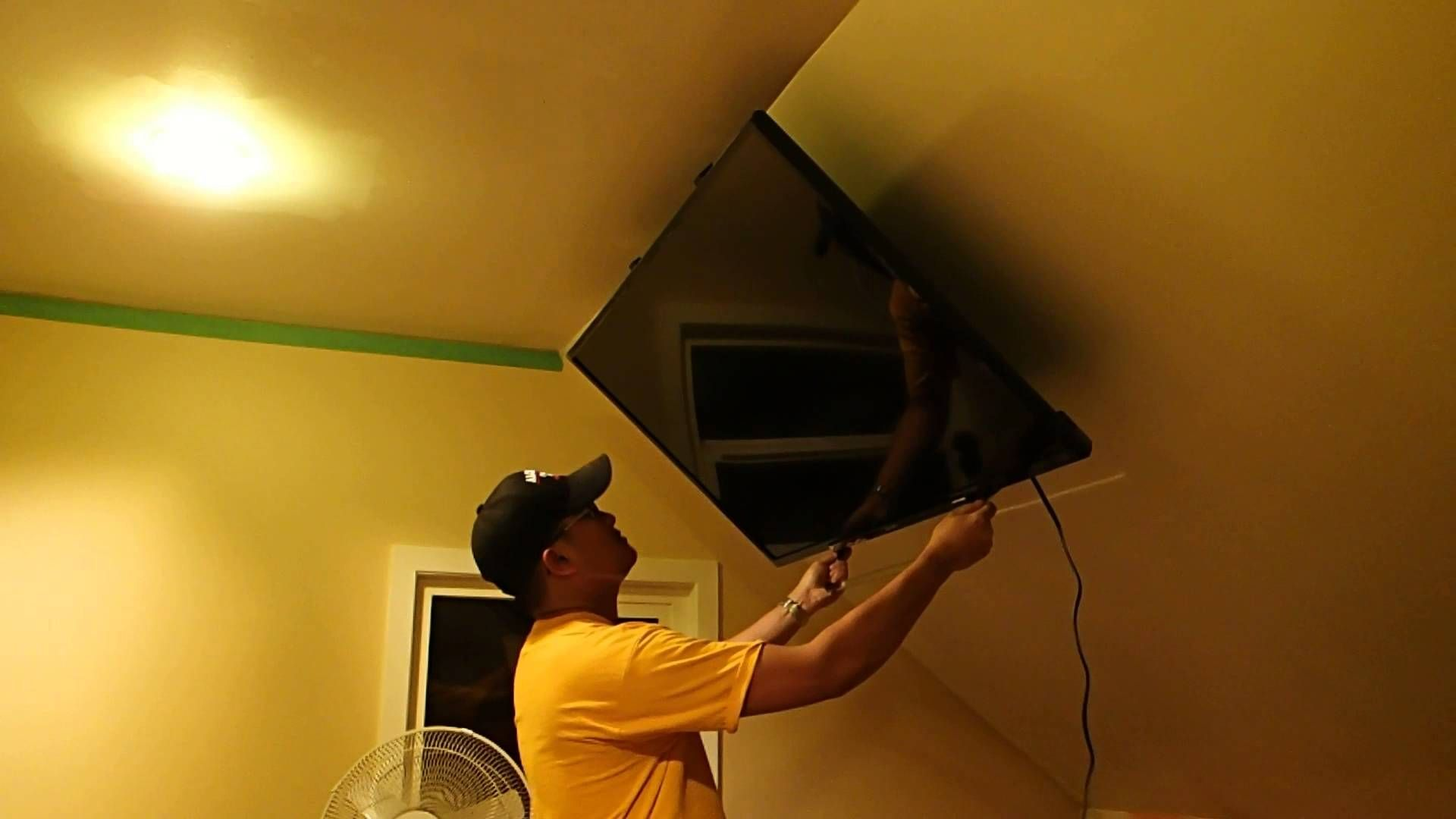 Retractable Angled Ceiling TV Mount | House Ideas in 2019 | Attic ...