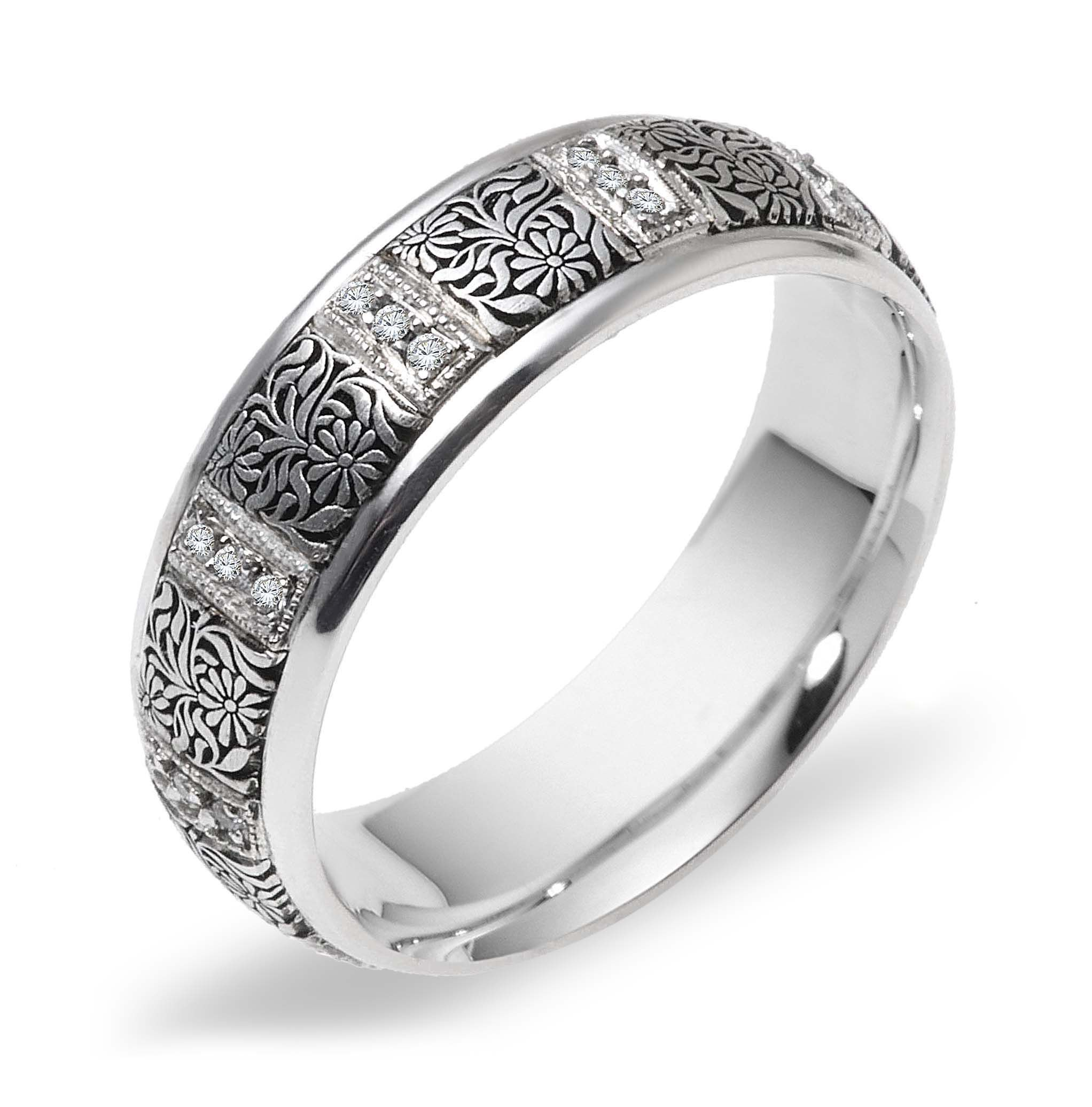 Astonishing lace ring covered with fine art of
