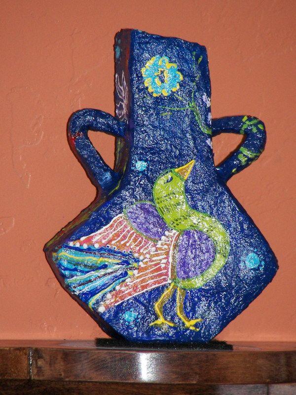 Paper Mache Vase Work Ideas Pinterest Paper Mache Art Club