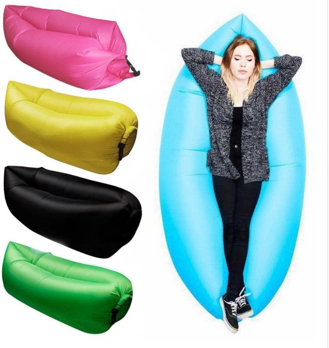Sectional Sleeper Sofa Finally Lightweight Air Sofa Sleep Bed Inflation Lounger Inflatable Outdoor