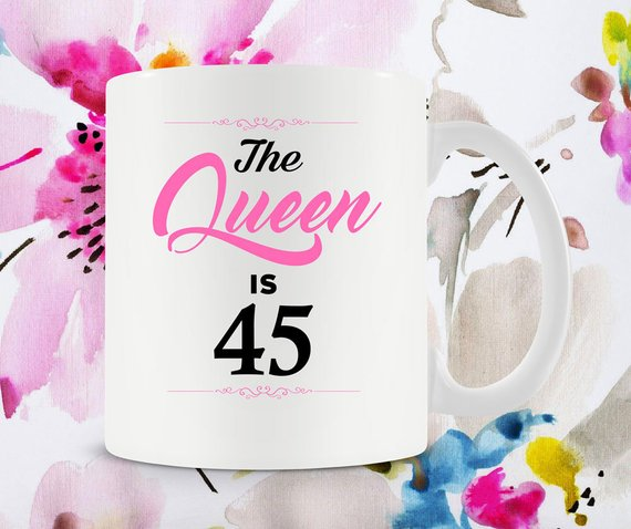 45th Birthday Gift Ideas For Women Coffee Cup Bday Present Her B Day