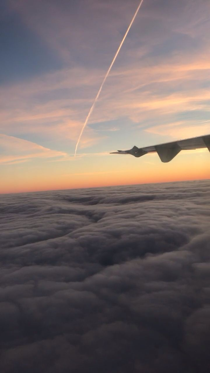 #holiday #plane #views #flight #clouds #sunset #snap