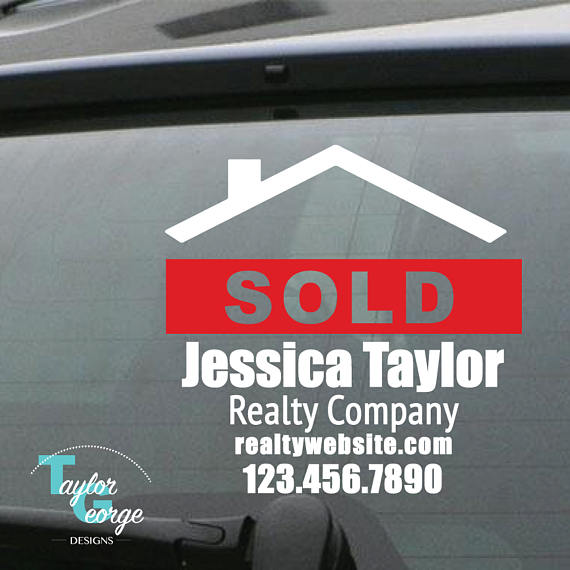 Realtor Car Decal Custom Realtor Decal Realty Group Decal - Vinyl stickers for marketing