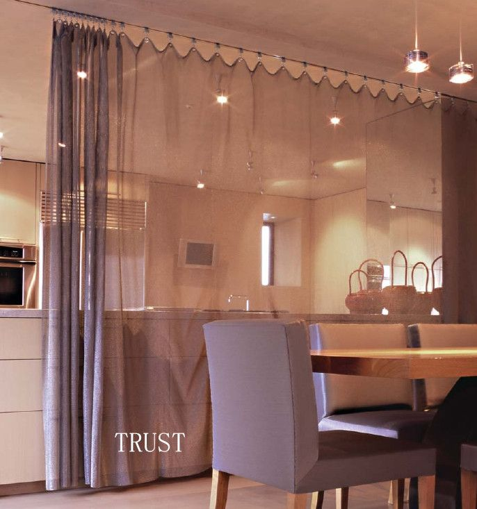 Thinking About Doing This To Divide The Dining Room And Living Room I Really Love The Tall Curtains As Living Room Dining Room Combo Curtains Panel Curtains