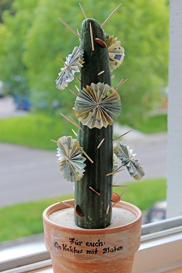 Das perfekte Geldgeschenk für Pflanzenliebhaber: der Geldkaktus - staunende Blicke inklusive #cactusplant