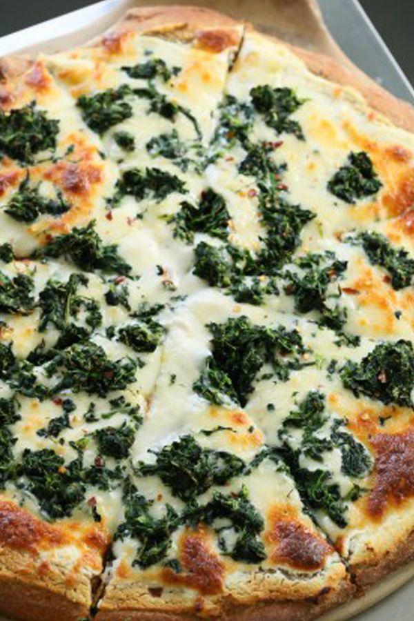 recipe: garlic spinach pizza [4]