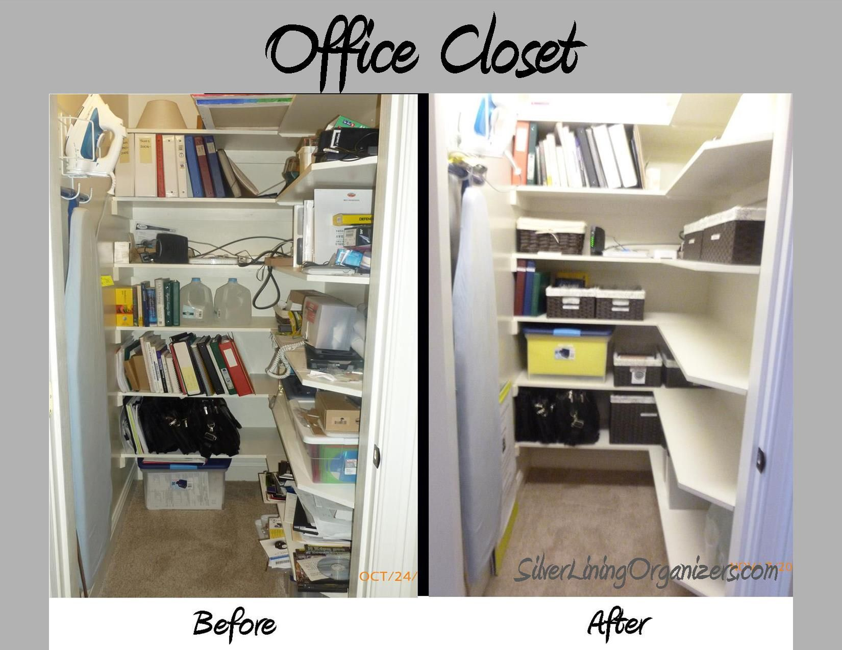 Silver Lining Organizers, LLC Organized Office Supply Closet | Before & After Photos ...
