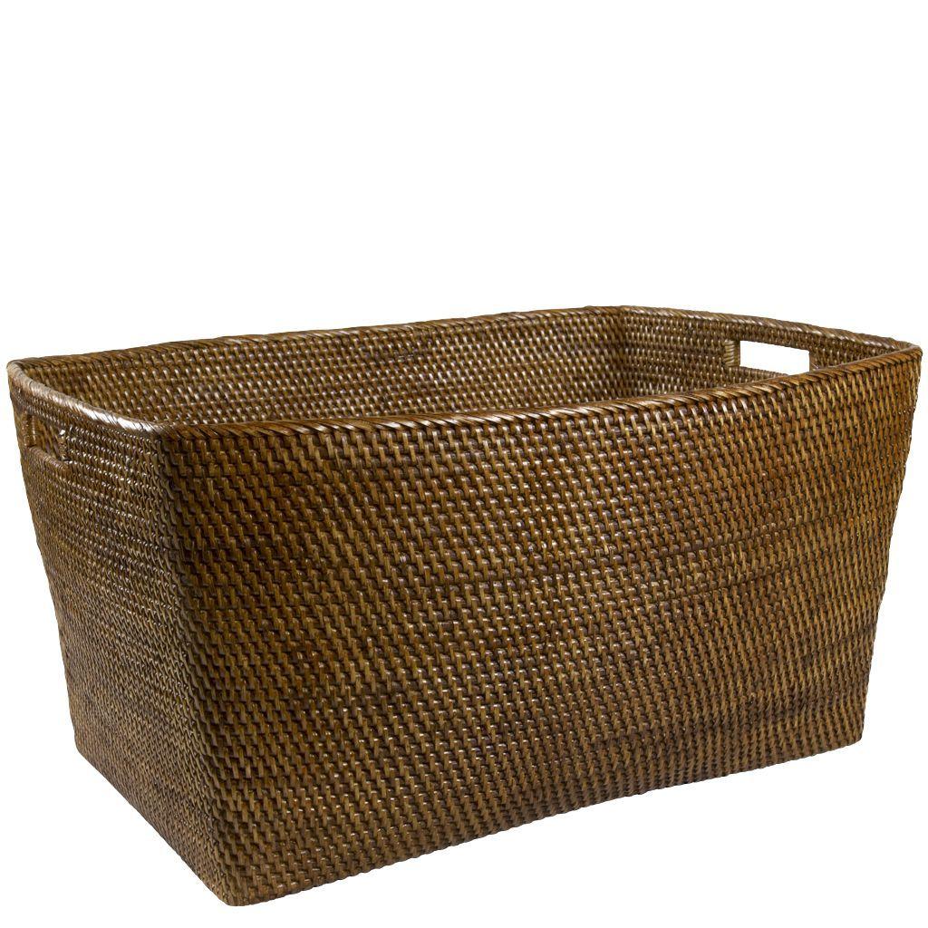Rattan Extra Large Rectangular Basket Rectangular Baskets