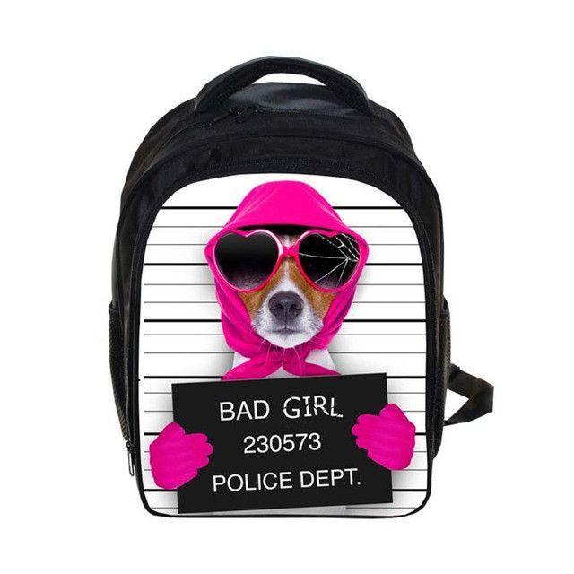 454f57b5f364 Bad Dog Backpack Small Children School Bags Cartoon Guilty Pet Kids  Kindergarten Bag Backpack For Teenager. Men s BackpacksTeenager  GirlKindergarten ...