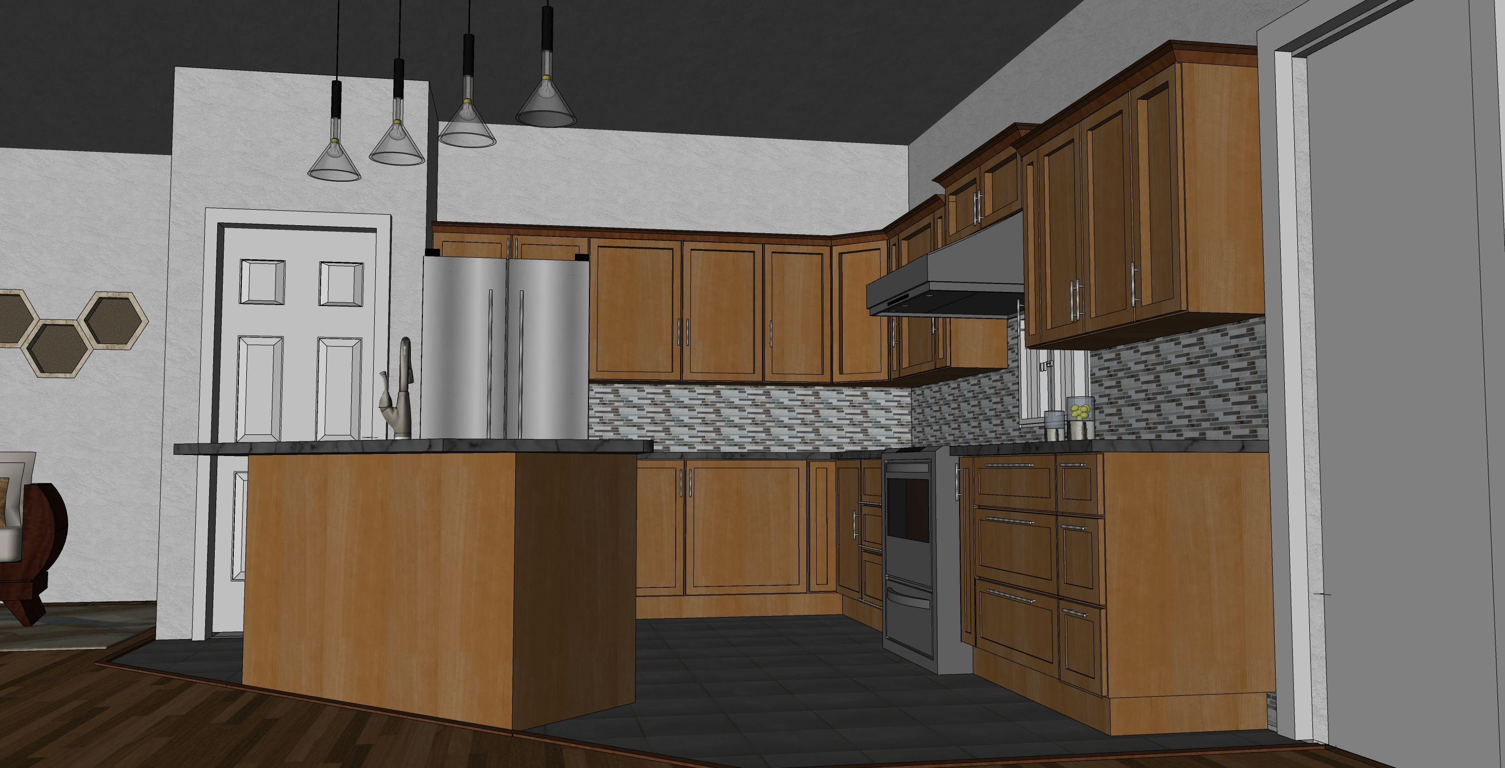 The Original Sketchup Model I Made Kitchen Design Design Kitchen
