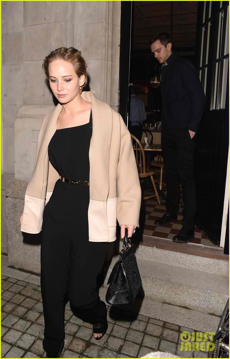 09e9a25f80b1 Jennifer Lawrence   Nicholas Hoult Dress Up for Dinner in London ...