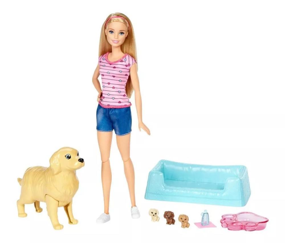 Barbie Cachorritos Recién Nacidos 84 915 00 Regalos Para Niños Ponis De Juguete Kit De Juego