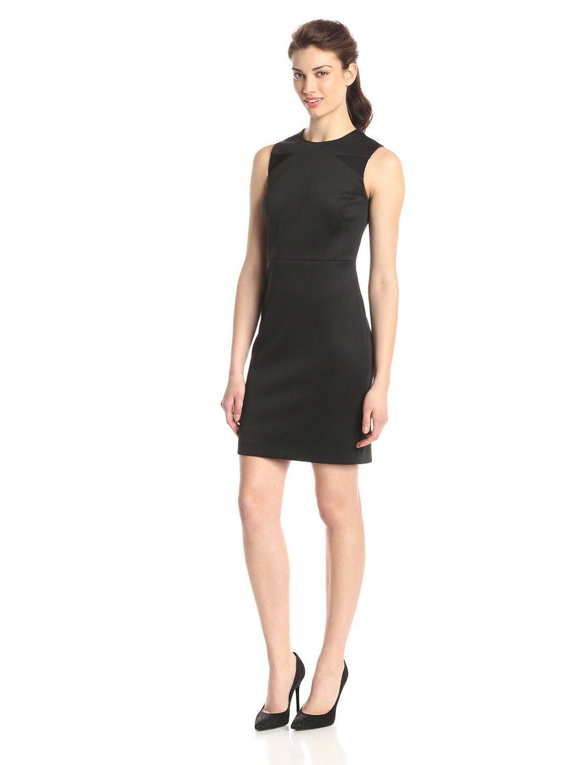 Sleeveless Dress With Mesh Insets By Vince Camuto Dresses Sleeveless Dress Dresses For Work [ 1500 x 1154 Pixel ]