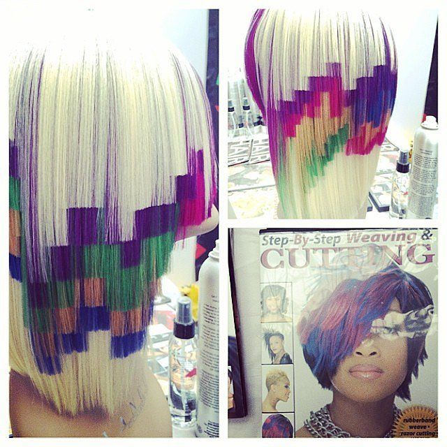 Pixel Hair Colour Is Trending And We Know Why Hair Styles Multicolored Hair Hair Trends