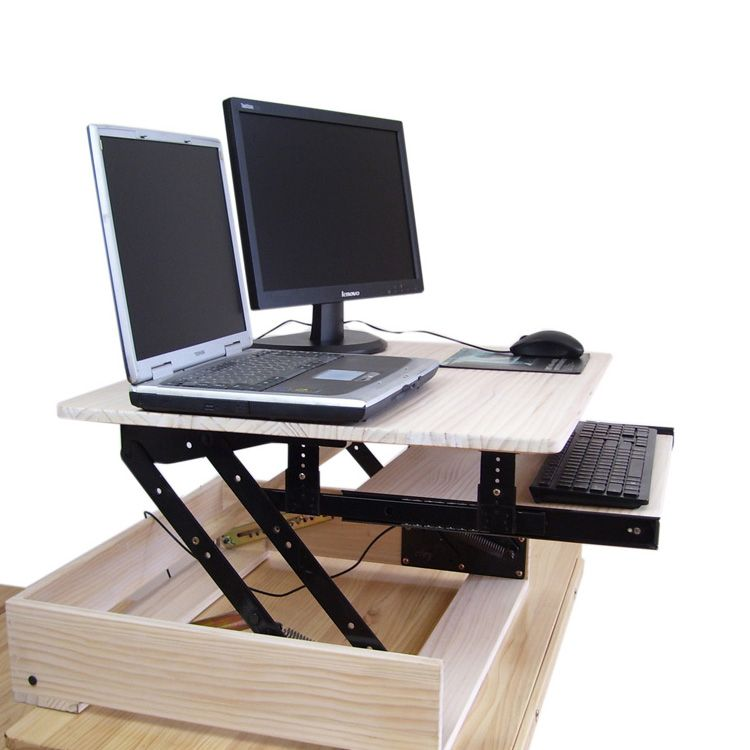 stand ergonomic and sit adjustable riser ergonomia height standing black to desk white