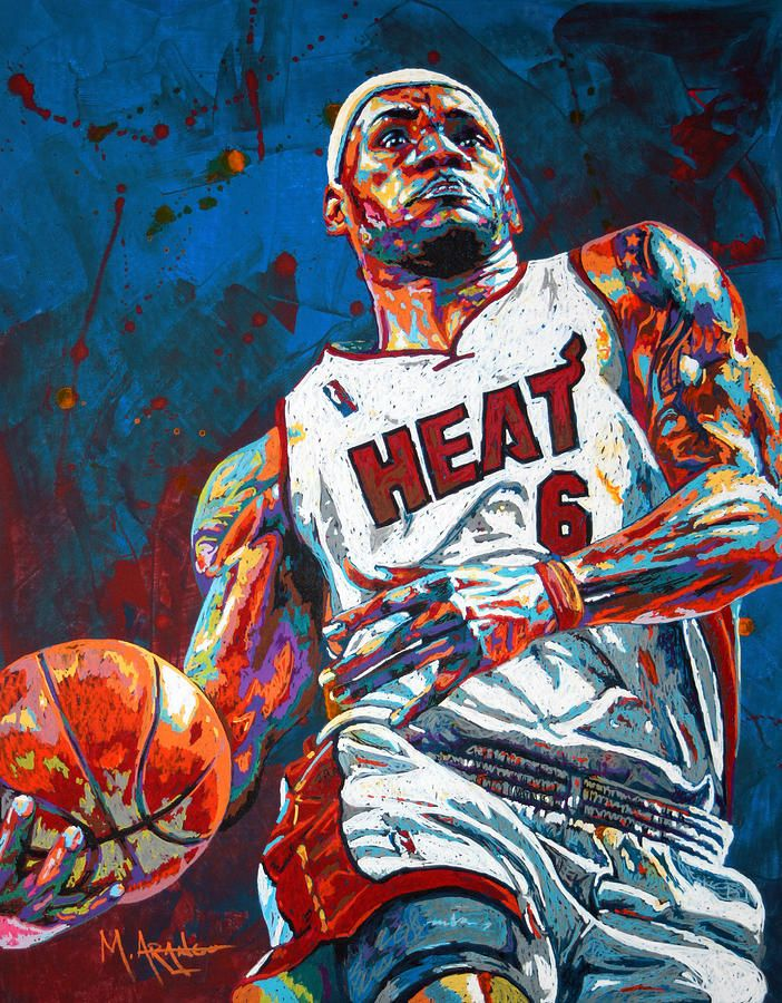 5a7fe3714e03 Lebron King James Canvas Print   Canvas Art by Maria Arango