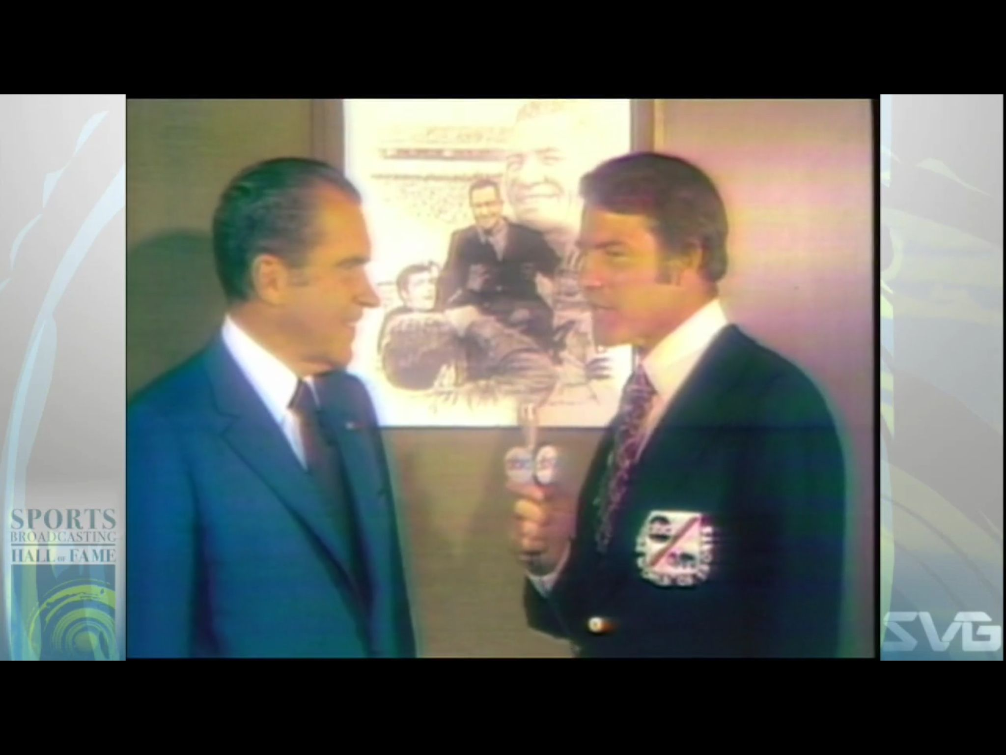 Frank Gifford with US President Nixon U.s. presidents